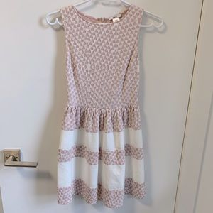 Bar III pink and white dress